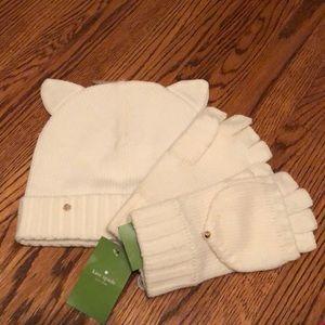 Kate Spade hat & glove set - BNWT
